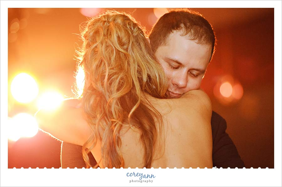 bride and groom first dance at reception at buhl park