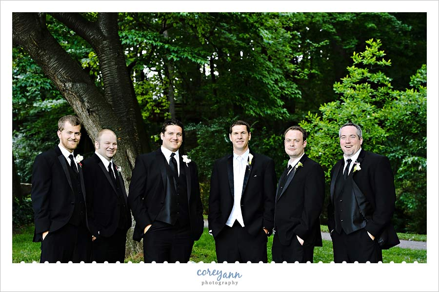 groomsman at the canton garden center in canton ohio