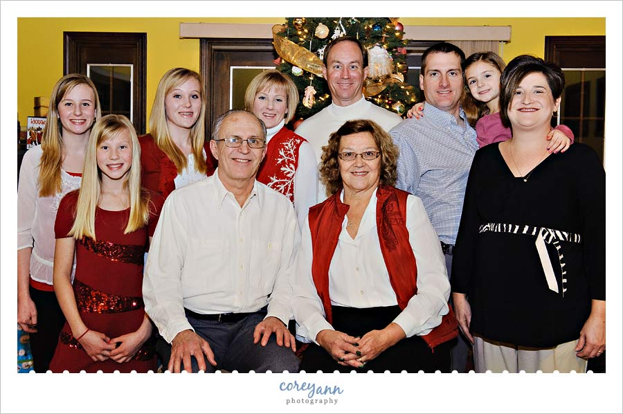 3 family christmas picture in hudson ohio