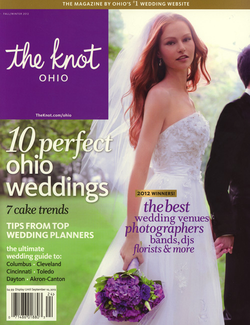 Real Wedding feature in The Knot Ohio