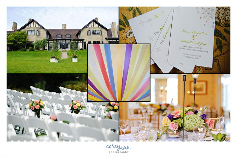 details from wedding at kirtland country club