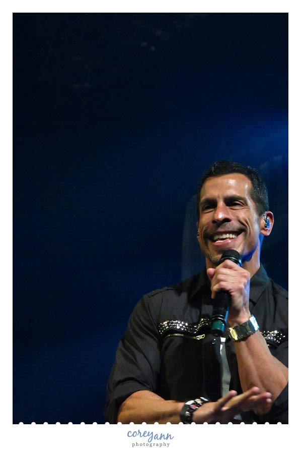 Danny Wood of New Kids on the Block in concert in Ohio