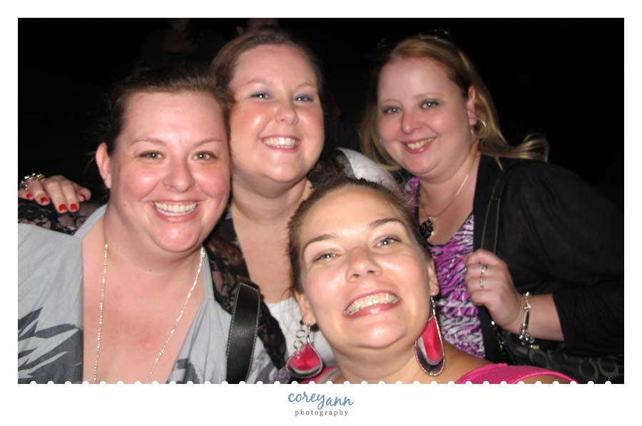 friends after New Kids on the Block in concert in Ohio