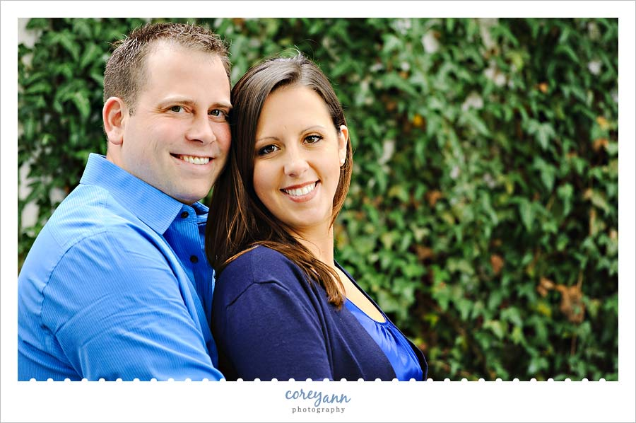engagement picture at kelleys island winery