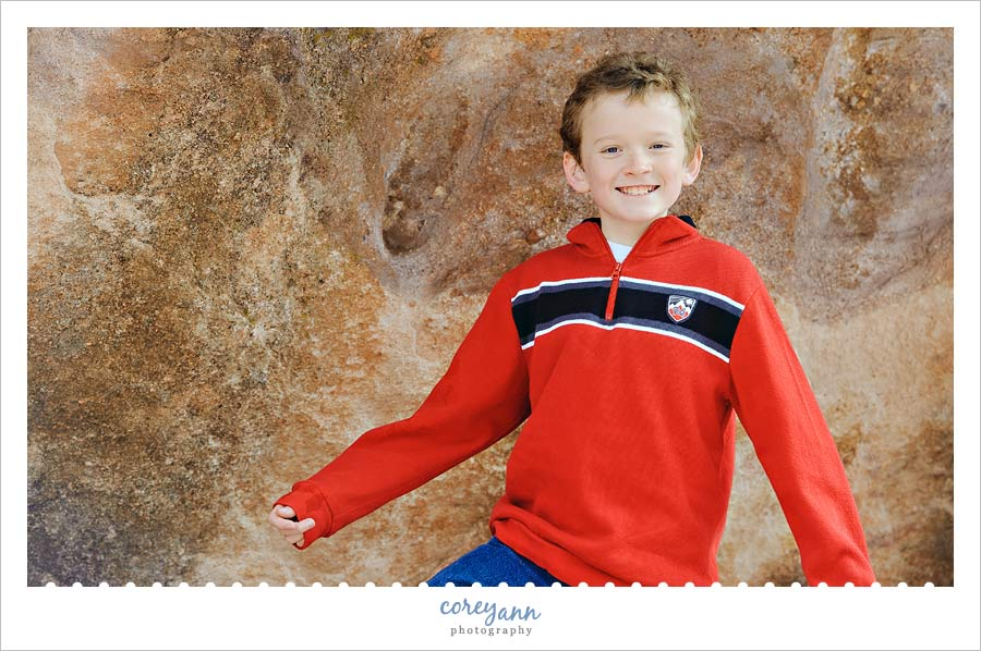 teenager portrait at Red Rocks Amphitheatre in colorado